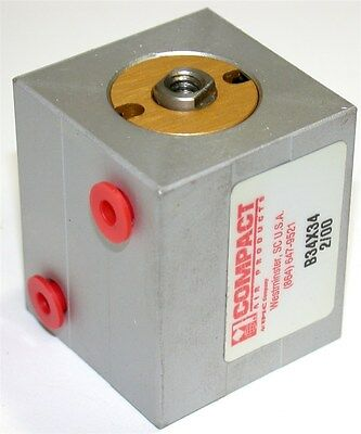 """Up To 8 New Compact Air 3/4"""" Stroke Pancake 3/4"""" Bore Pneumatic Cylinders B34X34"""