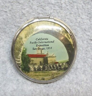 1935 California Pacific International Exposition San Diego SOUVENIR COMPACT