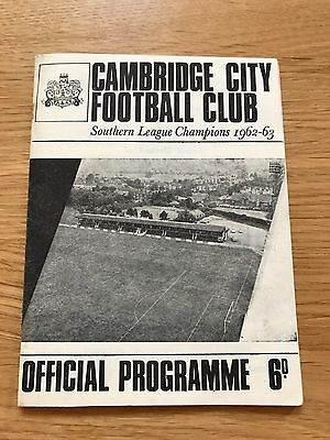 Cambridge City vs Bedford Town 1962/63 Eastern Pro Cup