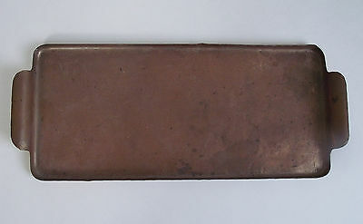 "Antique CRAFTSMAN STUDIOS 12"" Hammered Copper Tray LAGUNA BEACH Arts Crafts 1910"