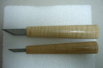 2pcs High Grade small carving knives ,sharp steel, maple handle  #6183