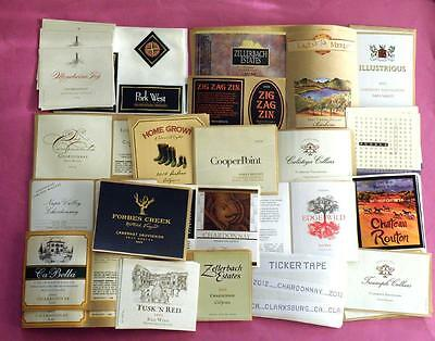 147 California Wine Labels Brand New Unused 21 Different Labels Lot