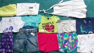 All NWT Lot Girls 5-6-6X Summer Clothes Shorts & Tops Justice+ 7 Outfits 13 Pcs!