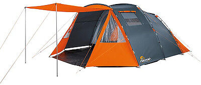 High Tunnel Tent 6 Person / Man Tent, Dividable Bedroom, Living Area, Canopy
