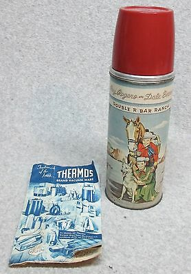 Best-On-Ebay 1953 ROY ROGERS & DALE EVANS Tin Litho THERMOS   MiNt w/Tags  C#10