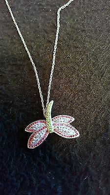 Old Rare Sterling Gorgeous Dragonfly Pendant Beautiful Look Awesome!!!