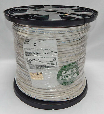 New 1000Ft Spool Of Amp Netconnect Cat 6 Plenum Communications Cable