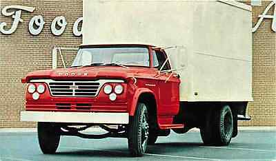 Advertising Postcard 1962 Dodge Medium-Duty Van D500 Chassis-cab Truck