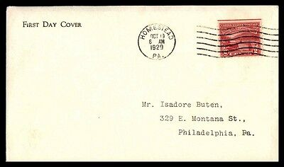 Red 2 Cent Ohio River Canalization Coil Oct 1929 Homestead Pennsylvania On Cover
