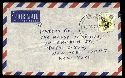October 10, 1972 Fiji Cover Airmail Cover To New York City Usa