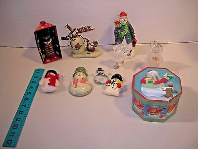 Vintage Christmas Decoration Snowman Ornaments & Figurines