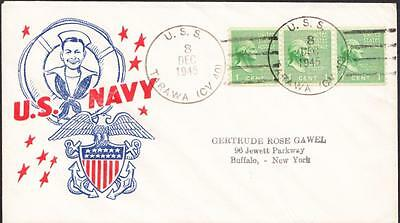 Aircraft Carrier USS TARAWA CV-40 1945 WWII Patriotic Naval Cover