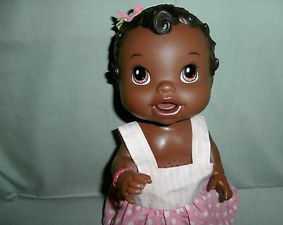 Baby Alive 2011 black African American Black Interactive Talking Doll 13""