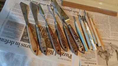 """Palette Knives & NIJI  Woodworking Tools & Speedball 9"""" Fabric Squeegee  Palette"""