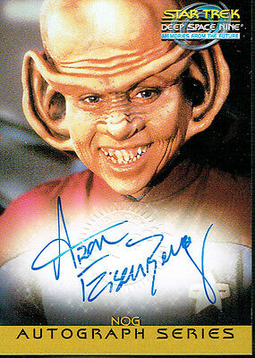 Star Trek Ds9 Memories From The Future Autograph Card A9 Aron Eisenberg As Nog