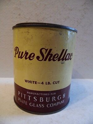 Vintage Can Pure Shellac Pittsburgh Plate Glass Co