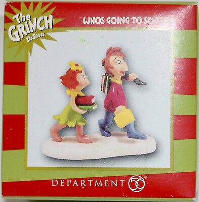 Dept 56 Grinch Village WHOS GOING TO SCHOOL Figurine NEW Box Christmas 4047197