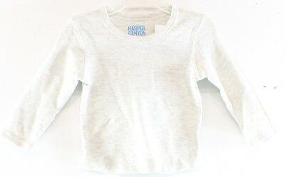 Harper Canyon NEW Solid Gray Baby Boy's 18 Months Long Sleeve Shirt DEAL