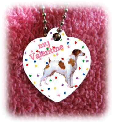"""Brittany Dog heart necklace 24"""" chain Valentine NEW"""