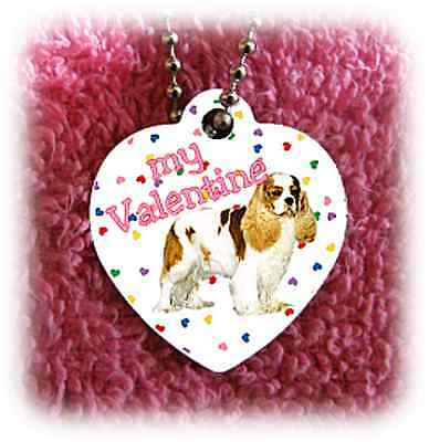 Cavalier King Charles Spaniel Dog heart necklace NEW