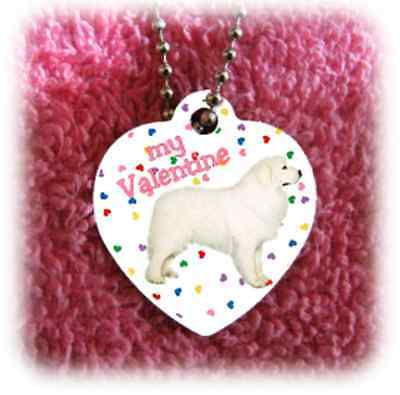 Great Pyrenees Dog heart necklace Valentine NEW