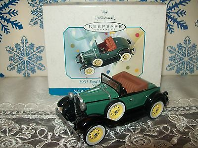 Hallmark 1931 Ford Model A Roadster #1 Vintage Roadsters Series 1998 Ornaments