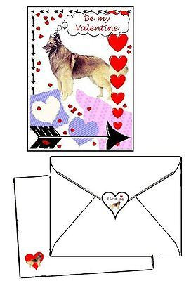 30 piece Valentine Cards 10 sets Belgian Tervuren laser printed envelopes & seal
