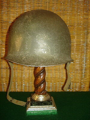 Wwii U.s. Fixed Bale M1 Helmet With Liner, Early 1942 Shell Lot Number