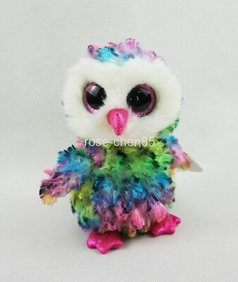 "6"" Owl Owen Ty Beanie Boos NEW for 2017 Plush Stuffed Animals Girl Toys With tag"