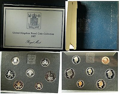 1987 UK Proof set - Original case and COA and outer box  #Blue