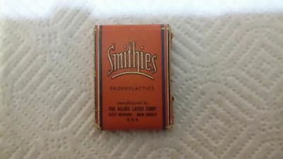 Vintage Smithies Prophylactic Allied Latex Corp Advertising Condom