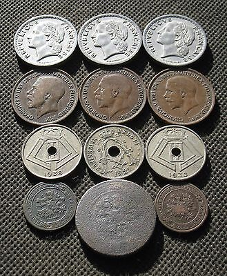 Lot Of Twelve Old Coins Of Europe -  Mix 68