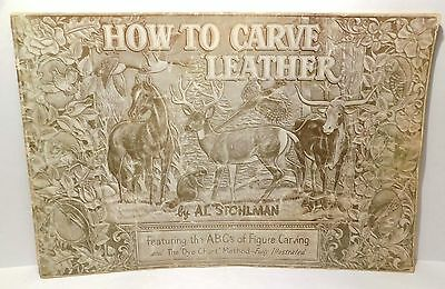 1952 HOW TO CARVE LEATHER Al Stohlman TANDY Leathercraft