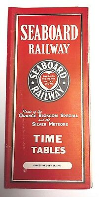 July 14, 1946 Seaboard Air Line Railway Timetable