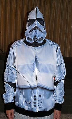 Disney Star Wars Storm Trooper Men's Hoodie Sublimated Large New With Tag L