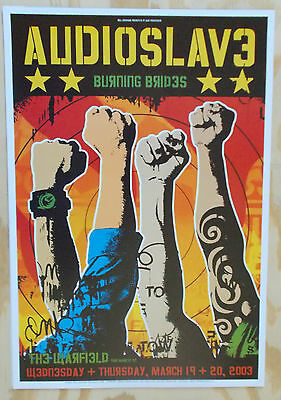 AUDIOSLAVE WARFIELD POSTER Burning Brides BGP298 Original Fillmore Era J. Davis