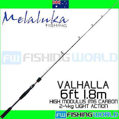 MELALUKA FISHING VALHALLA 6ft 1.8m 2-4kg HIGH MODULUS IM6 CARBON FISHING ROD