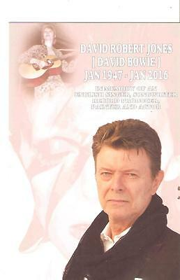 NEW POSTCARD - In Memory of DAVID BOWIE 2016