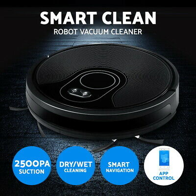 Devanti Automatic Robot Robotic Vacuum Cleaner Carpet Floor Dry Clean Recharge