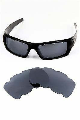 black Polarized Replacement Lenses For-Oakley gascan vented