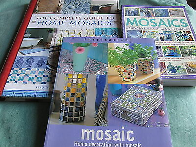 Create Wonderful & Unique Mosaics ~ 3 Great Books About Mosaic Work ~ Designs