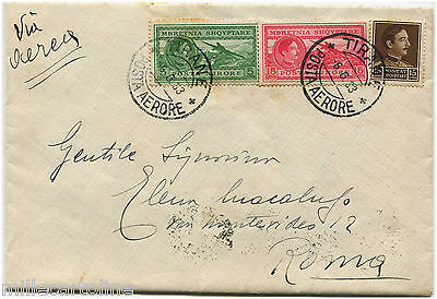 ALBANIA, AIR MAIL, ANNULS TIRANE POSTA AERORE, 1933, 3 STAMPS (2 AIR STAMPS)   m