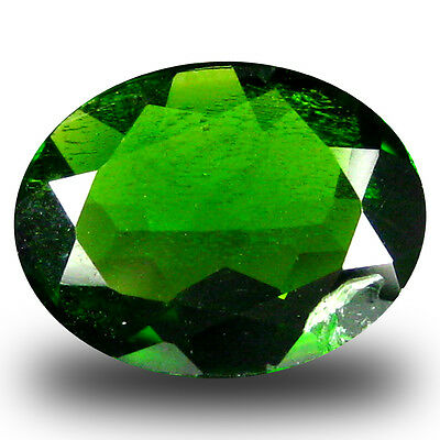 1.44 ct  Flashing Oval Shape (9 x 7 mm) Green Chrome Diopside Natural Gemstone