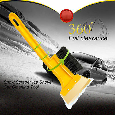 ABS Car Snow Scraper Ice Shovel Car Cleaning Tool with Snow Removing Brush XRAU