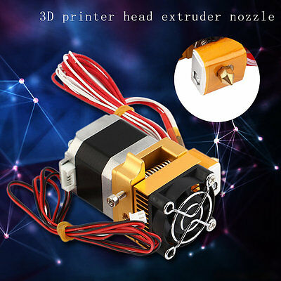 3D Printer Head MK8 Extruder 1.75 Filament Extra Nozzle Extruder Accessory XRAU