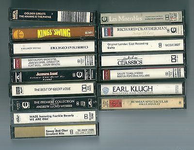 Job Lot Music Audio Cassette Tapes / Shows Easy Pop Jazz