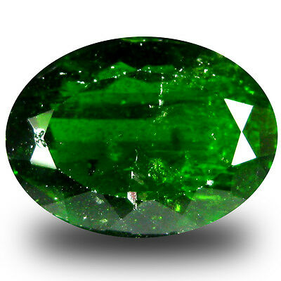 6.54 ct  Outstanding Oval Shape (14 x 10 mm) Green Chrome Diopside Gemstone
