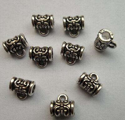 30 pcs Tibetan silver flowers charms connector 6.5x7 mm