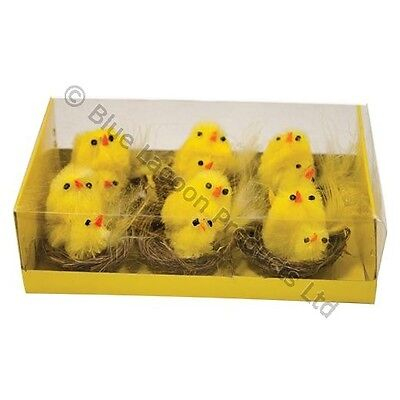 4cm Easter Chicks In Basket Hens Egg Hunt Kids Children Craft Chicken Party