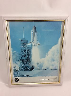 Shuttle Endeavour Photograph Signed by Tracy Caldwell-Dyson Framed